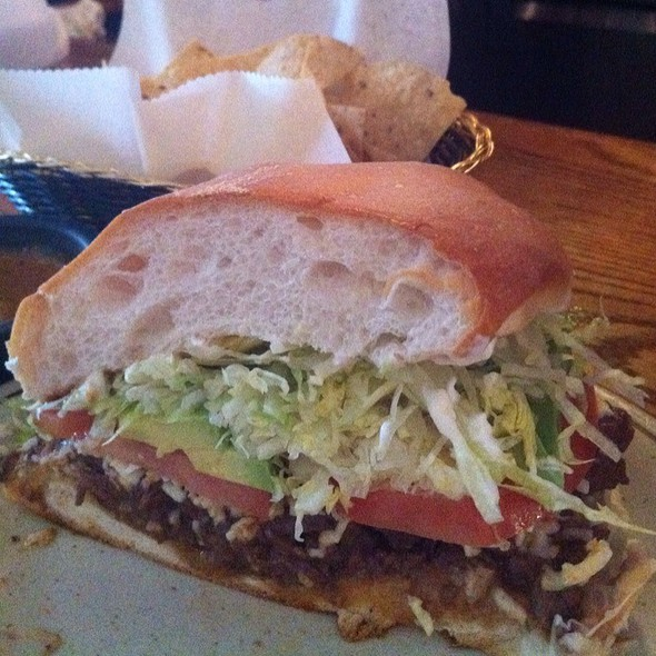 Carne Asada Torta @ Los Nopales Mexican Restaurant