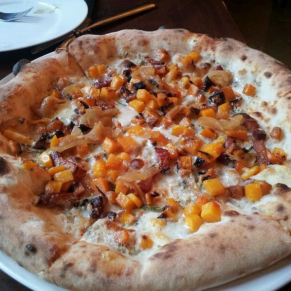 Pizza With Butternut Squash And Bacon - Pizzeria Seven Twelve, Orem, UT
