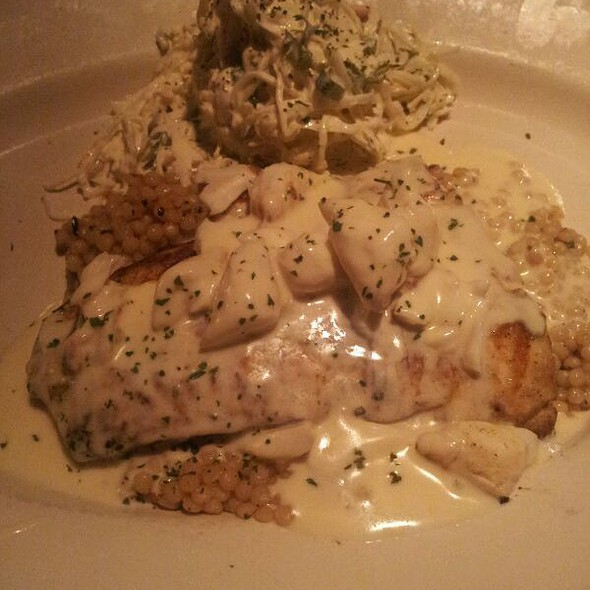 Halibut with lemon butter caper sauce @ J Alexander's Restaurants