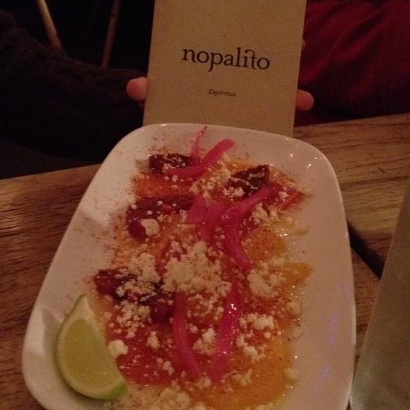 Narajas Con Chile, Limon Y Queso @ Nopalito