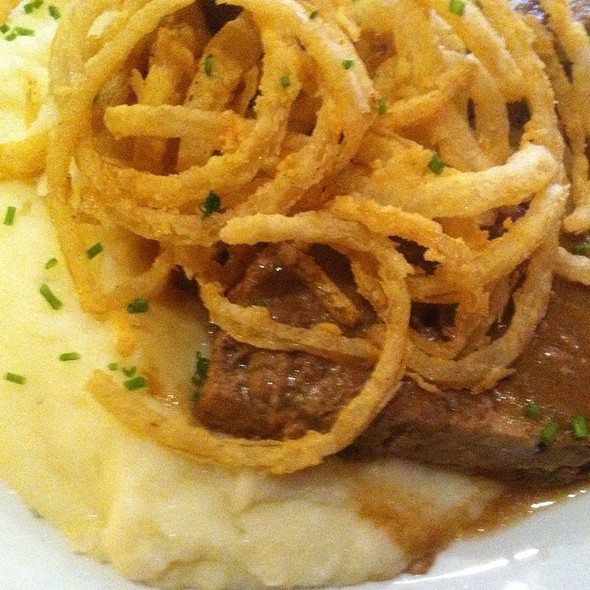 Meatloaf With Mashe Potatoes And Onion Rings @ Southern Hospitality