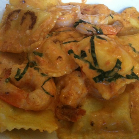 3 Cheese Ravioli with Shrimp