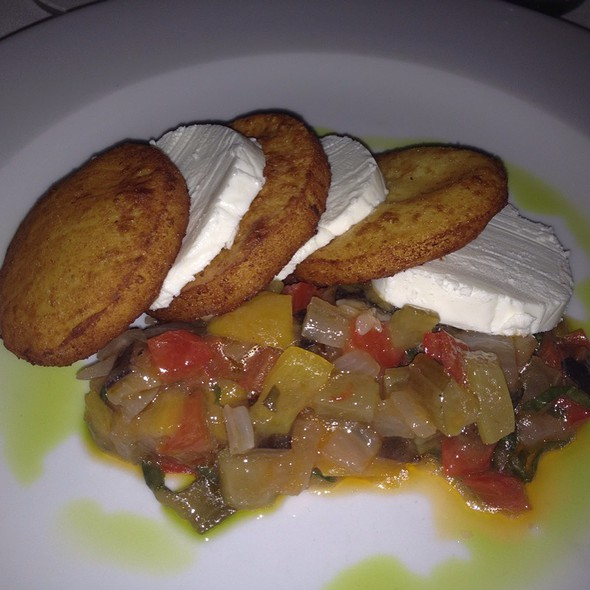 Panelle - Chickpea Fritters with Goat Cheese and Sicilian Caponata - I Trulli, New York, NY