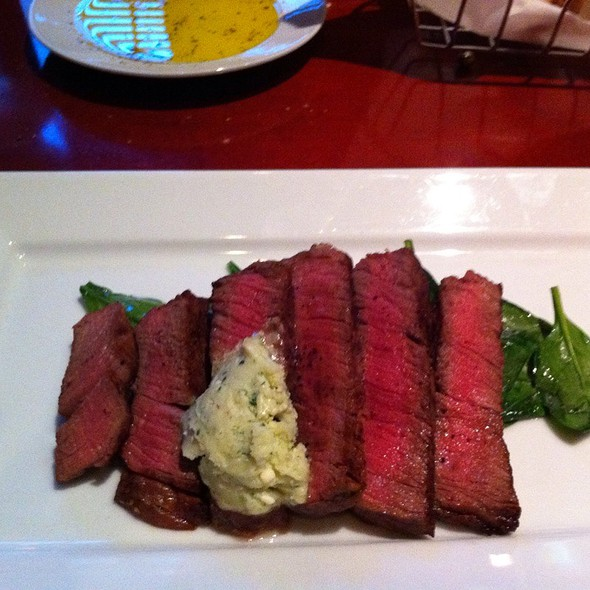 Beef Tenderloin With Gorgonzola Butter And Wilted Spinach - Bordinos, Fayetteville, AR