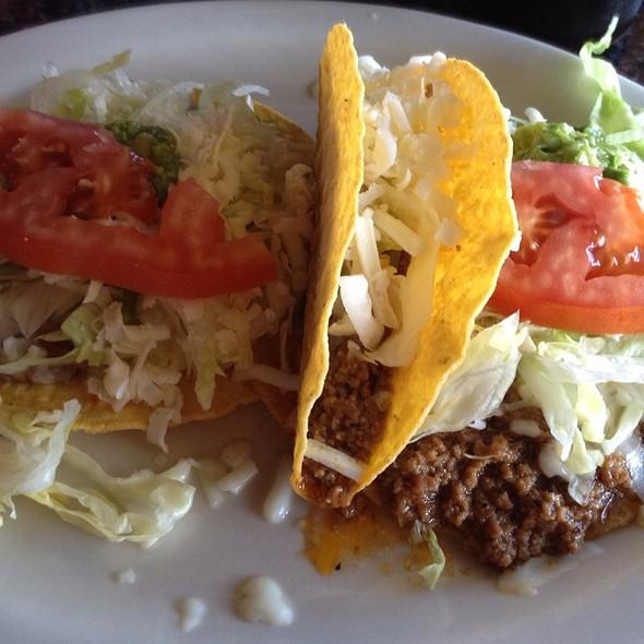 Combination #14 Taco, Chalupa @ MI Tierra Caliente Restaurante Mexicano