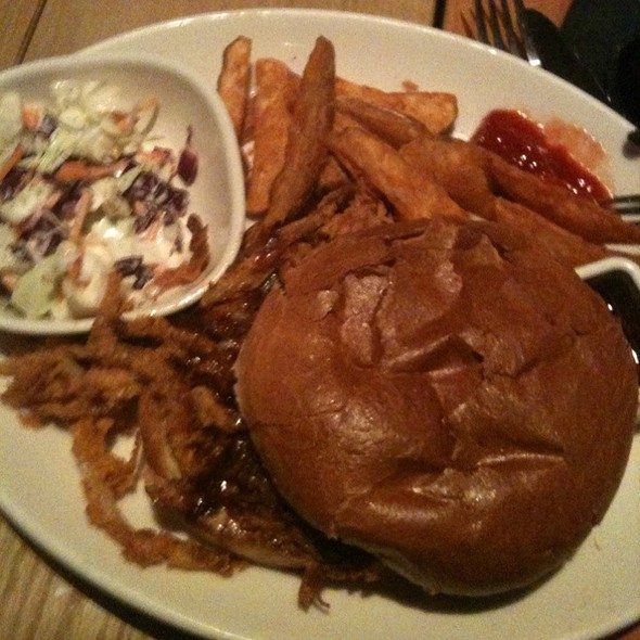 BBQ Pulled Pork Sandwich @ BJ's Restaurant & Brewhouse