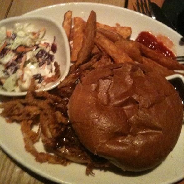 BBQ Pulled Pork Sandwich @ BJ's Restaurant & Brewhouse
