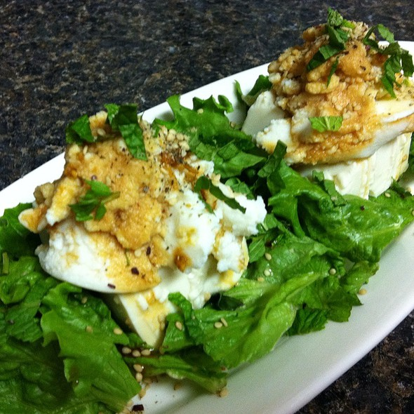 Silken Tofu With Ricotta On Herb Salad @ Home