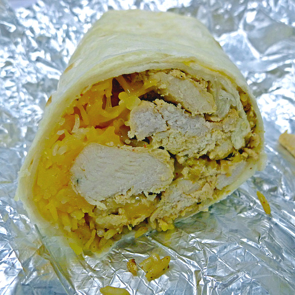 Joey Bag of Donuts Chicken Burrito