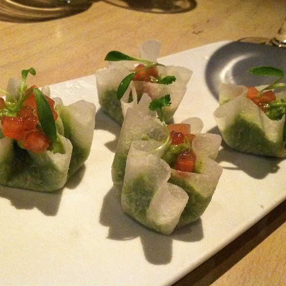 Jicama Wrapped Guacamole @ The Bazaar by Jose Andres