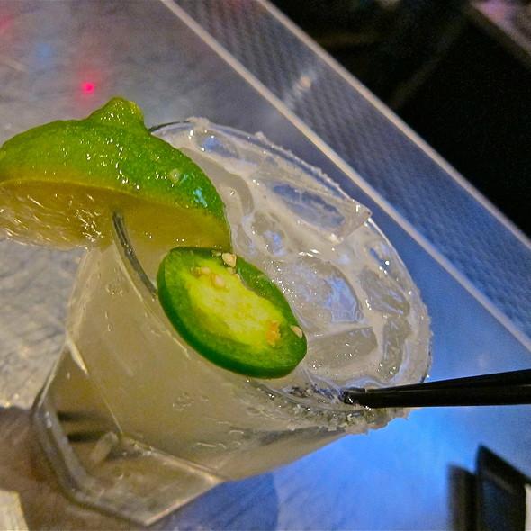 Jalapeño Margarita/ simple syrup @ Pedro's Cantina