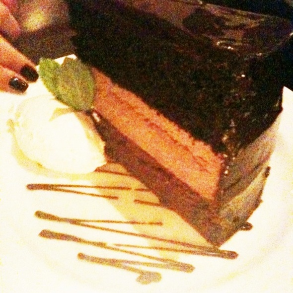 XXX- triple dark chocolate layer cake @ Baker & Banker