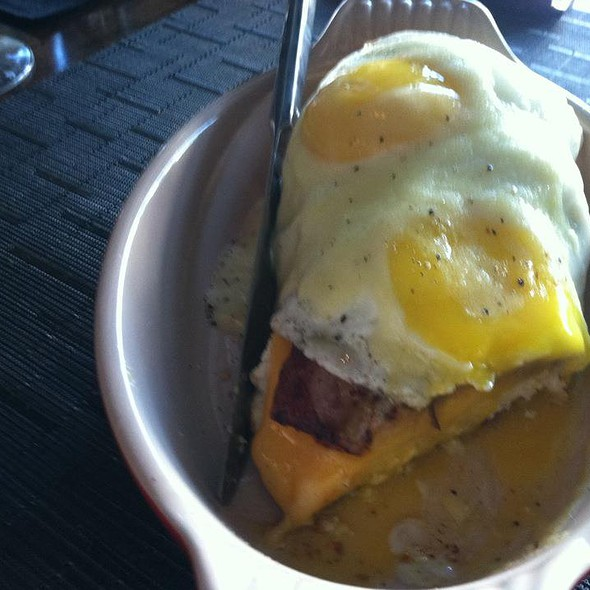 Biscuit, Cheddar, Pork Belly, Fried Egg, Hollandaise - The Macintosh, Charleston, SC