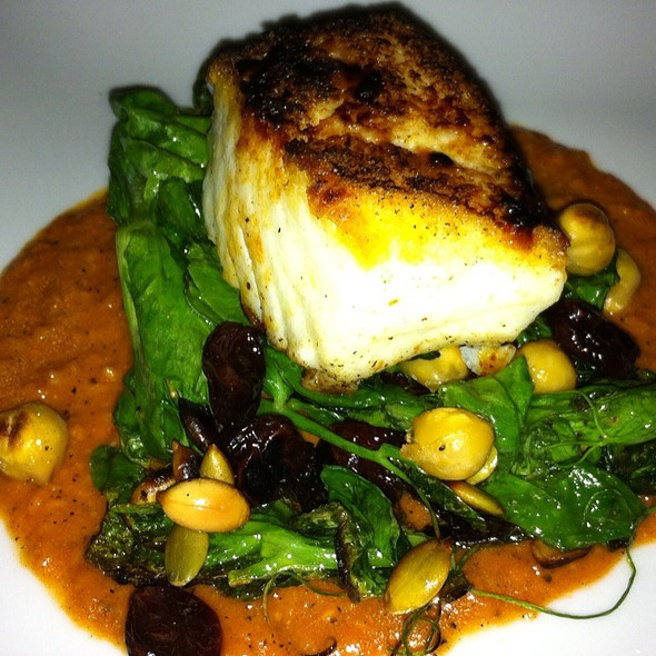 Roasted Halibut, Lentils & Catalan Style Greens @ Estadio Restaurant