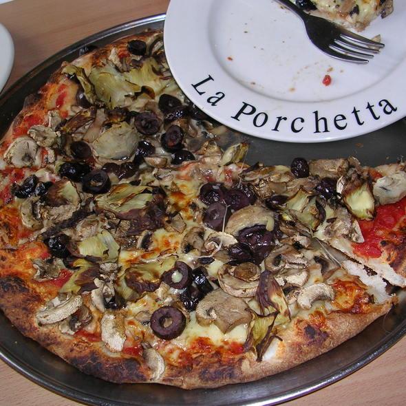 Vegetarian Pizza @ La Porchetta