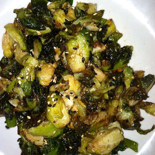 Wok Honey Soy Brussel Sprouts @ 86 West Restaurant & Bar