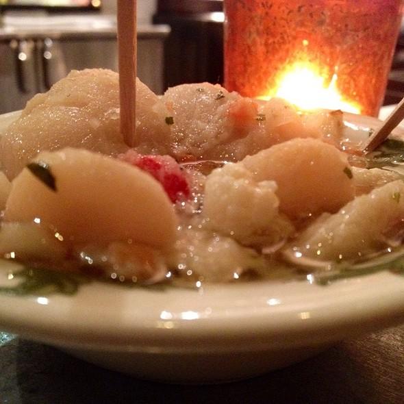 Beans with pickled vegetables @ Bar La Grassa