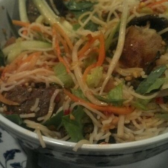 Rice Noodle Salad With Beef And Crispy Spring Roll @ MEKONG RESTAURANT