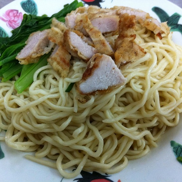 Deepfried Pork With Homemade Noodles @ Restoran Uncle Seng 自制蛋面