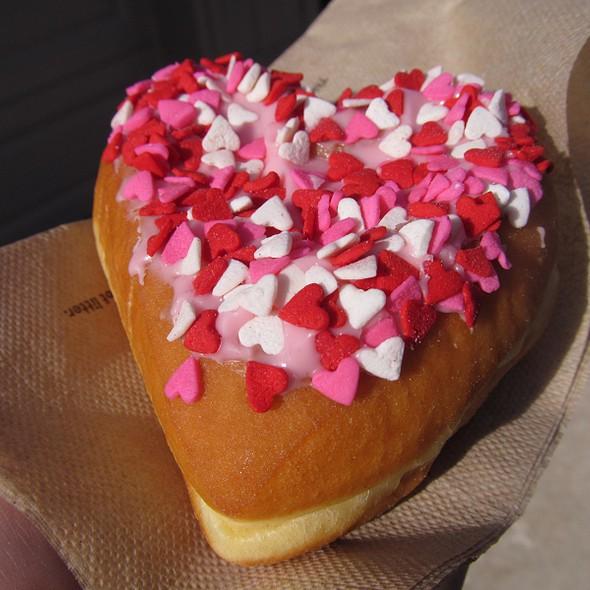Heart Shaped Donuts @ Dunkin' Donuts