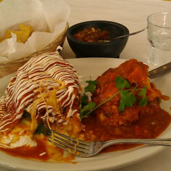 Chicken Stuffed Pepper Combination @ Wholly Frijoles