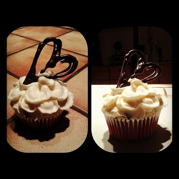 Sweet Valentine (Red Velvet Cupcake With Cream Cheese Frosting  @ Home