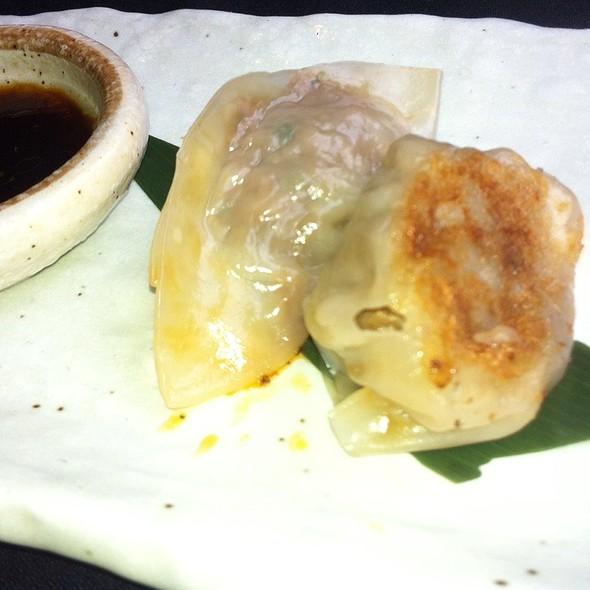 Waygu Beef Kimchi Dumplings @ Roka Akor Chicago