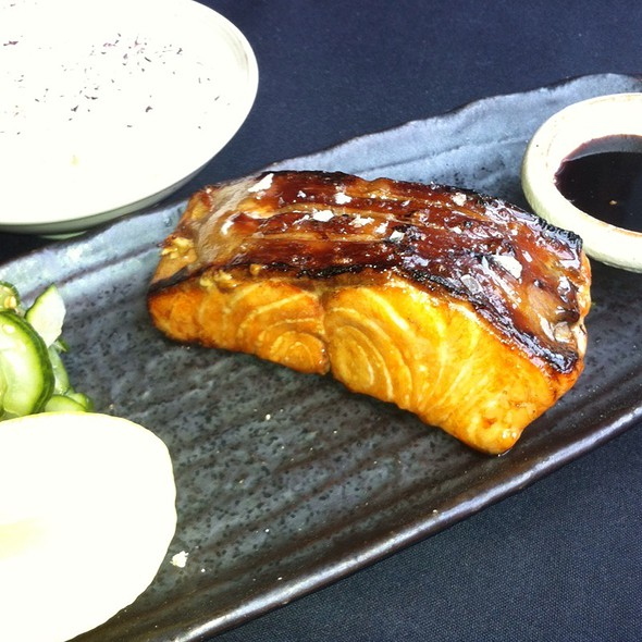Grilled Teriyaki Salmon @ Roka Akor Chicago