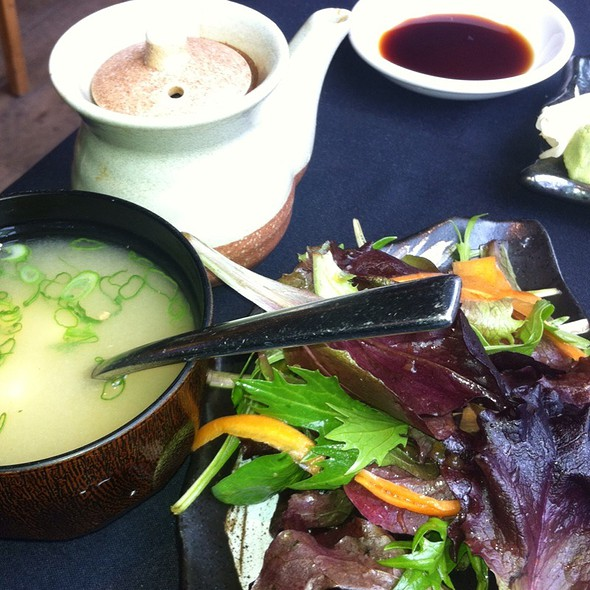 Miso Soup and Salad @ Roka Akor Chicago