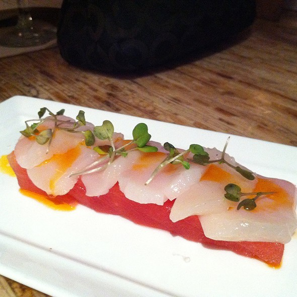 Scallop Sashimi W/Compressed Watermelom And Spicy Yuzu Oil @ Kapow! Noodle Bar