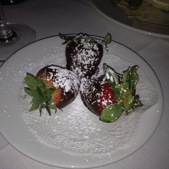 Chocolate Covered Strawberries - Nicola's Ristorante, Plano, TX