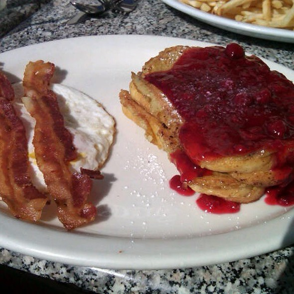 Lemon Filled French Toast With Raspberry Topping @ Tammie's Corner House Cafe