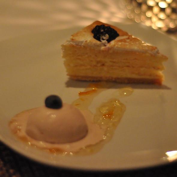Lemon Bavarois & Cranberry Sorbet - COAST Restaurant, Vancouver, BC