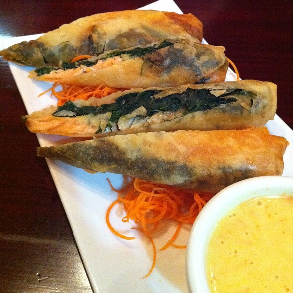 Salmon Spinach Roll @ Spice Thai Kitchen