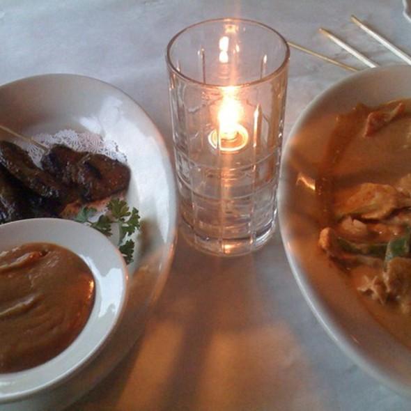 Chicken Panang & Beef Satay