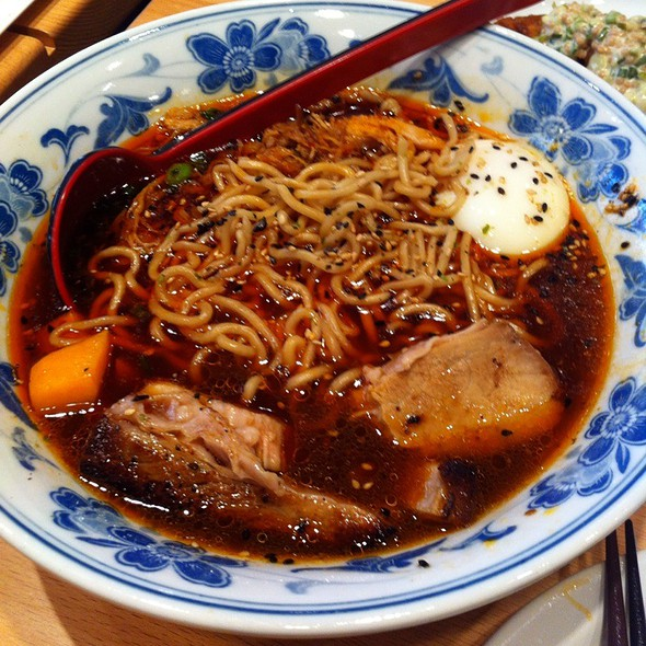 Chicken & Pork Broth Ramen With Pork Belly And Poached Eegg @ Boke Bowl