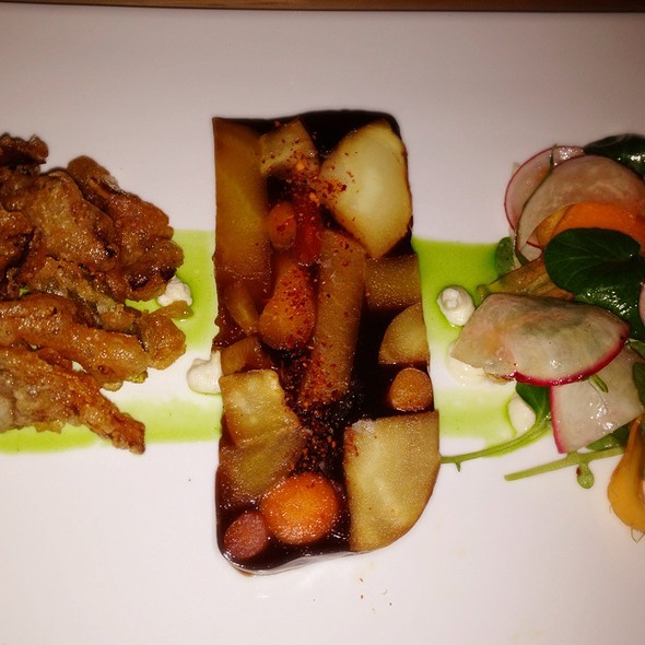 Root Vegetable Terrine With Fried Chanterelles @ Commonwealth