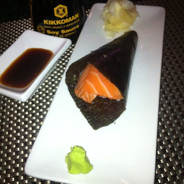 Salmon Sashimi Rollup - Asia Nine Bar and Lounge, Washington, DC