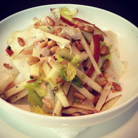Shaved Celery Root. Apple & Pine Nut Salad @ Central 214
