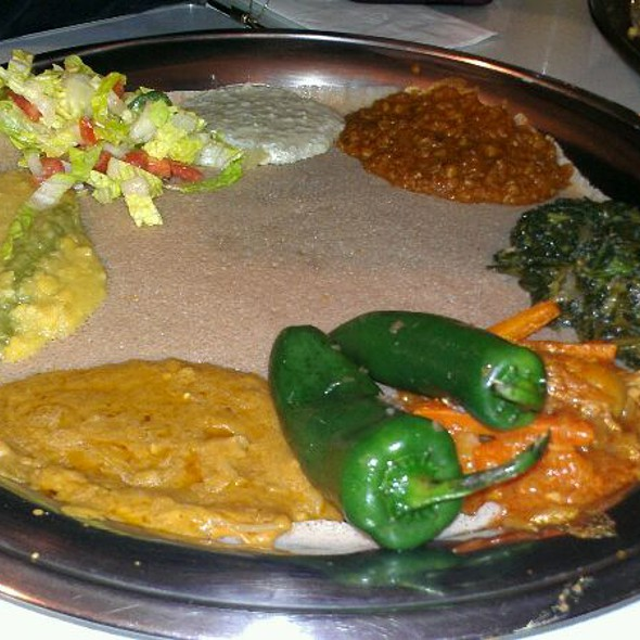 Veggie Combo Plate @ Awash Restaurant