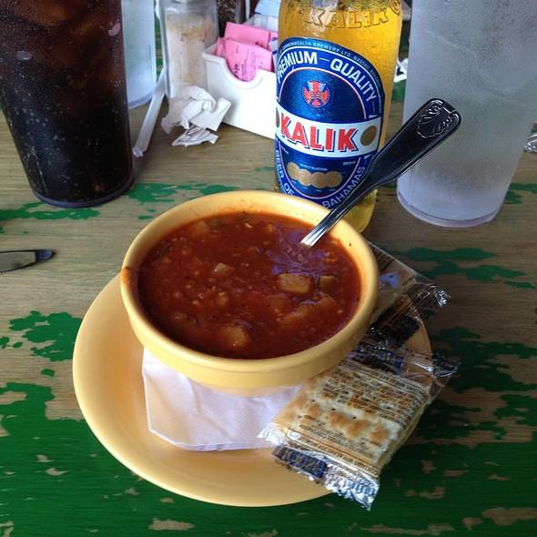 Conch Chowder @ Turtle Kraals Restaurant & Bar