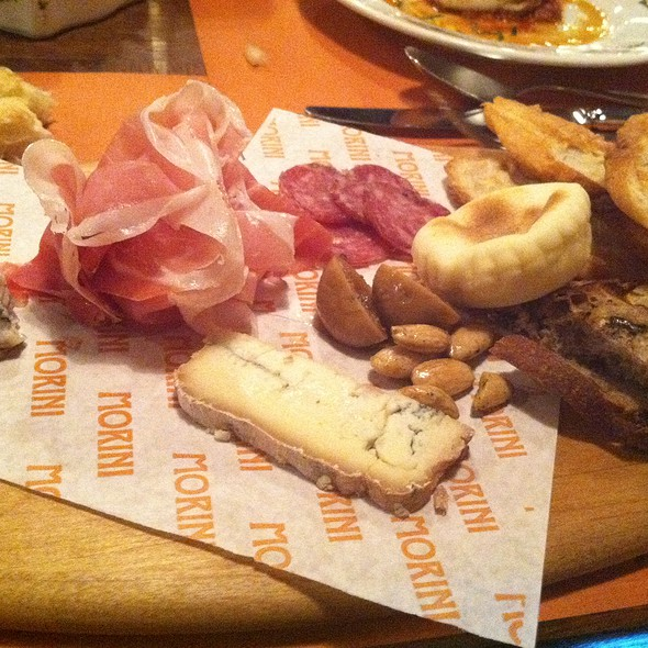 CURED SLICED MEATS and Cheese WITH GRILLED BREAD & TIGELLE MODENESE @ Osteria Morini