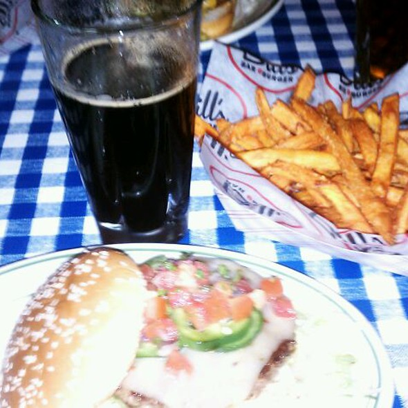 Jalapeno Burger & Sweet Potato Fries @ Bill's Bar & Burger - Rockefeller Center