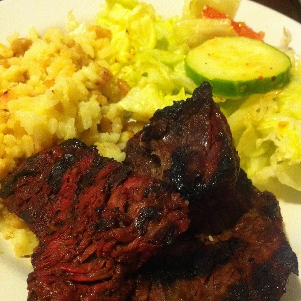 Steak Tips Rice Pilaf And Salad  @ The Sub-way