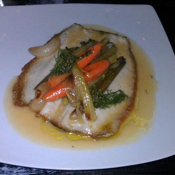 Whole Trout with Baby Fennel, Carrots, Cippolinis, and Dill @ Wolfslair Biergarten