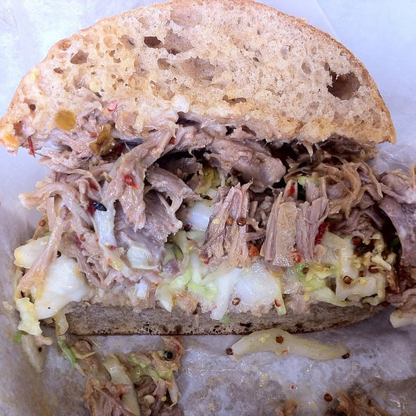Spicy Pulled Pork Sandwich @ Golden West