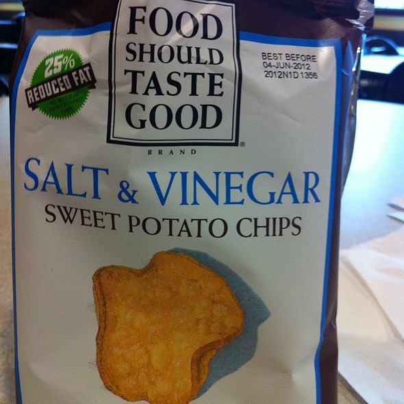 Salt & Vinegar Sweet Potato Chips  @ The Skinny Chef Inc
