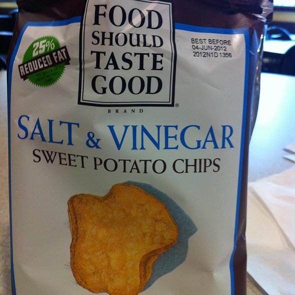 Salt & Vinegar Sweet Potato Chips  @ The Skinny Chef Inc