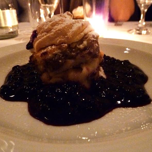 Apple dessert with a plum sauce @ Hotel Miramonte