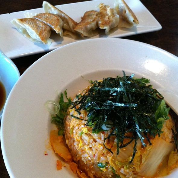 Kimchee Fried Rice And Gyoza @ Tajima Japanese Restaurant